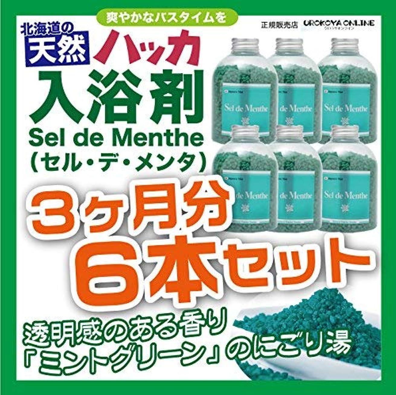 検査販売計画不愉快【6本セット】北見ハッカ通商 入浴剤Sel de Menthe(セル?デ?メンタ)徳用ボトル 6本セット 2700g