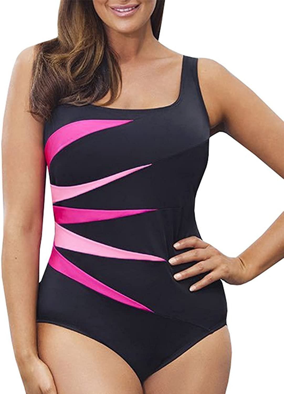 6KZMNA0Z0A Women's Fashion Plus Size One Piece Swimsuits