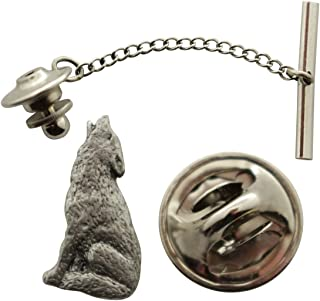 414e8ebe137f Wolf Howling Tie Tack ~ Antiqued Pewter ~ Tie Tack or Pin ~ Sarah's Treats &