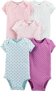 Carter's Baby Girls 5 Pack Bodysuit Set, Floral, 9 Months