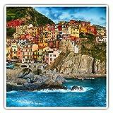 Impresionantes pegatinas cuadradas (juego de 2) 7,5 cm – Manarola Cinque Terre Italia Divertidas calcomanías para portátiles, tabletas, equipaje, reserva de chatarras, neveras, regalo genial #45661