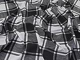 Minerva Crafts Plaid kariert Doppel-Jersey Stretch Knit