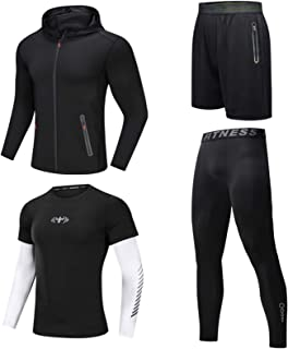 Long Sleeve Tight Men's Sports Suit Fitness Clothes, Running Equipment, Clothes, Yoga Clothes, Men's Quick-Drying Clothes,...