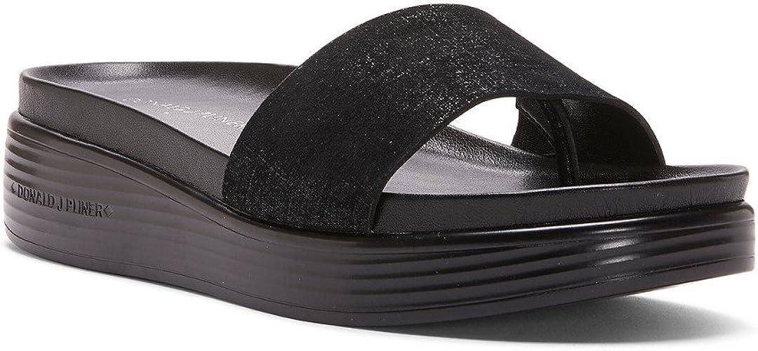 Donald J Pliner Women's Fiji Distressed Metallic Slide Sandal