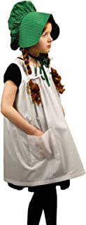 The Queen's Treasures Little House on The Prairie Child-Size Apron & Bonnet Costume Dress Up Set (Which Matches an 18 in Doll Size Dress That is Compatible with American Girl)