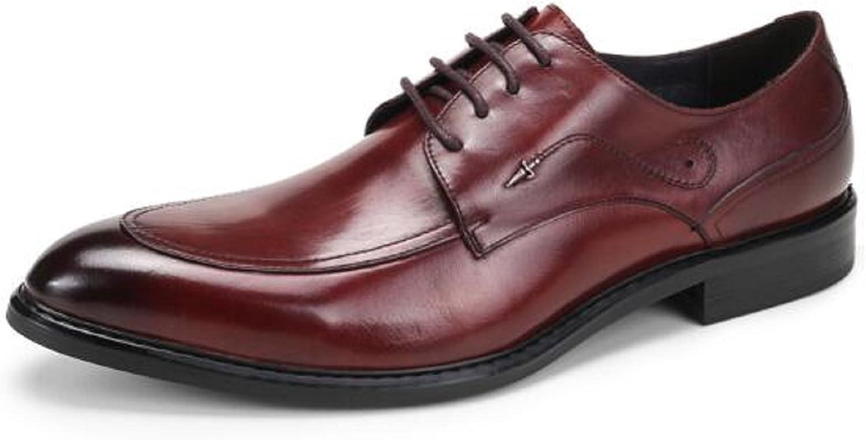 HAPPYSHOP(TM Men's Leather Dress shoes Derby shoes Lace-ups Pointed Toe Derbies Oxford Black