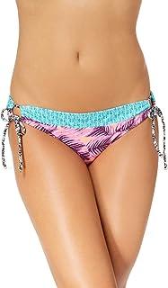 Hula Honey Juniors` Leaf Breeze Printed Side-Tie Hipster Bikini Bottoms