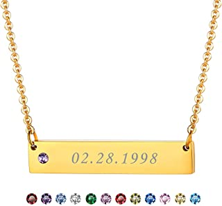 Best horizontal bar necklace with birthstones Reviews