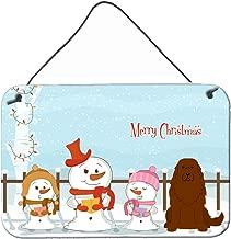 "Caroline's Treasures BB2381DS812 Merry Christmas Carolers Caucasian Shepherd Dog Wall or Door Hanging Prints, 8"" x 12"", Multicolor"