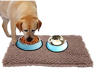 Ultra Absorbent Dog Door Mat for Dirty Dog, Microfiber Mat for Food and Water Bowle, Exrta Thick Pet Bed and Kennel Pad - Prevent Mud Dirt, Durable, Quick Drying, Washable, Non-Slip 31