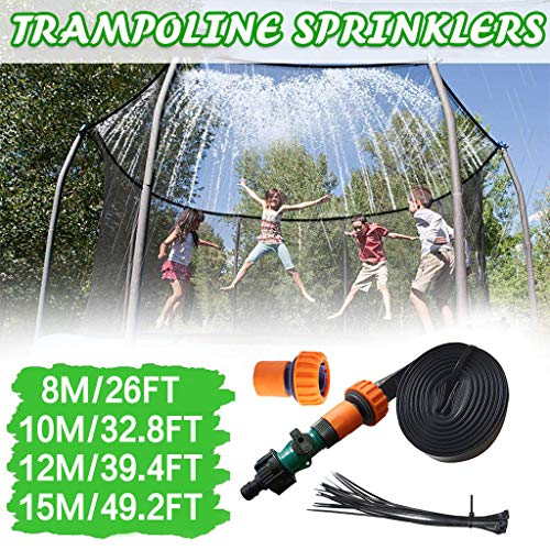 LUCKME Trampoline Sprinkler, Outdoor Kids Fun Summer Games Water Park Sprinkler Hose Pipe Fun Summer Pools Sprinkler Toys Accessories Fun Summer Activities For Garden Yard (10m/32.8ft)