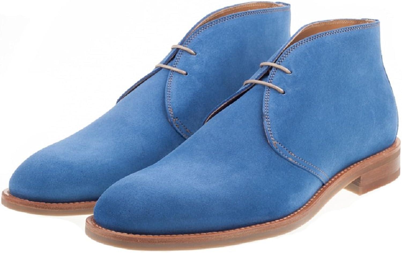 John White Men's Westbury Sport Chukka Boots in Navy,Brown,Cherry,Champagne,Azure bluee,Green and orange Suede.