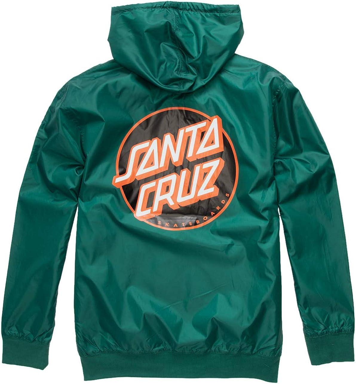 Santa Cruz Dot Windbreaker Jacket - Forest Green - SM