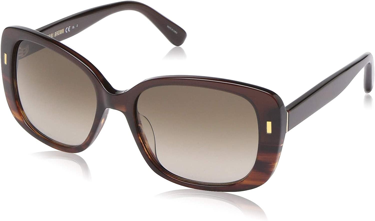 Bobbi Brown Women's The Audrey s Square Sunglasses, BRW HAVAN, 53 mm