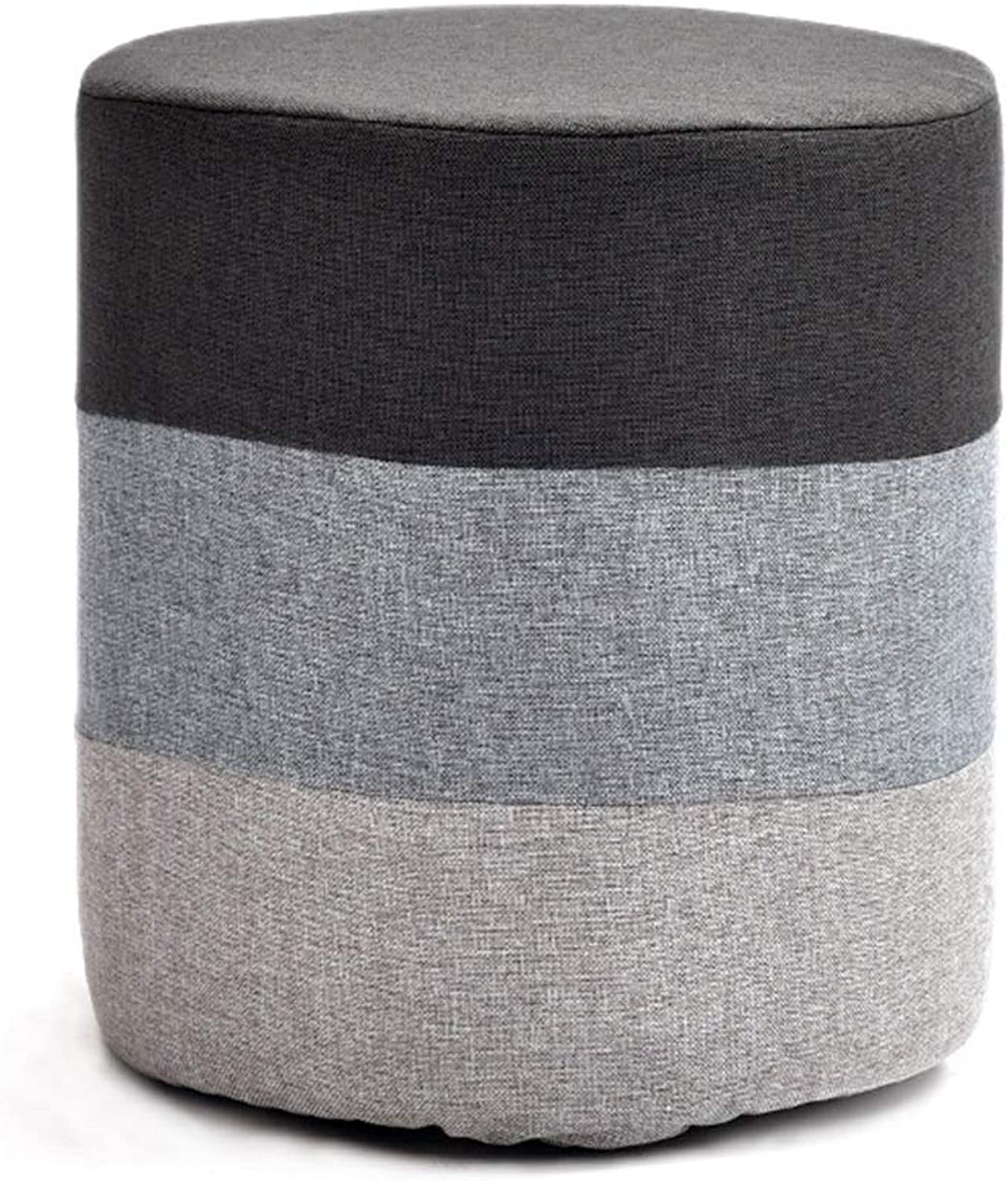 Simple Small Stools Footstool for Living Room, Kindergarten, Kitchen (color   Round 4)