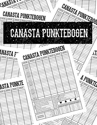 Canasta Punktebogen: Spielblock, Block mit 100 Blatt, Größe 8.5x11 Zoll (ca. A4)