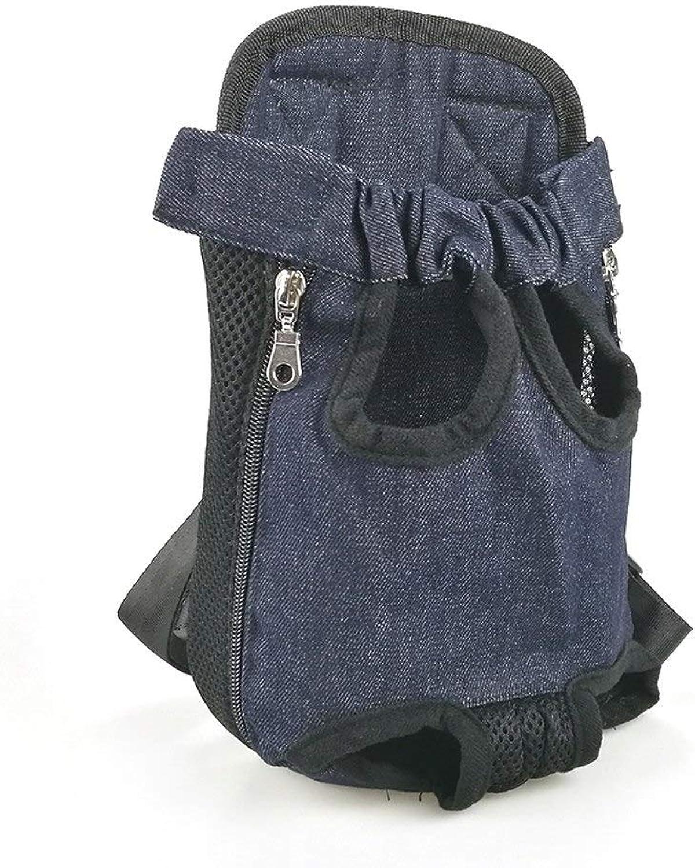 Pnizun  Dog Carriers Fashion Red color Travel Dog Bag Backpack Breathable Pet Bag Pet Puppy Carrier [J bluee L for 47kg]
