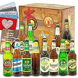 Biere der Welt und Deutschland / 12er Bier Geschenkset/Geburtstag