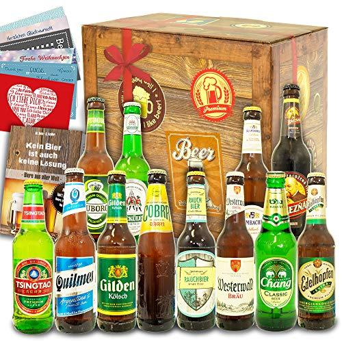 Bier Geschenkbox / 12x Bier aus der Welt & Deutschland/Geburtstagsset mit Bier