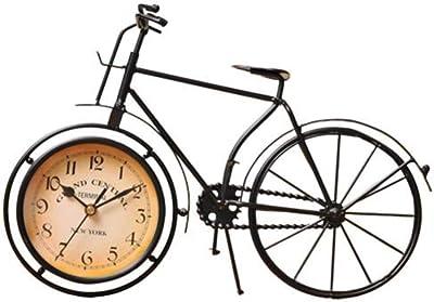 WUQIUYU Reloj Decorativo Vintage en Forma de Bicicleta con números ...