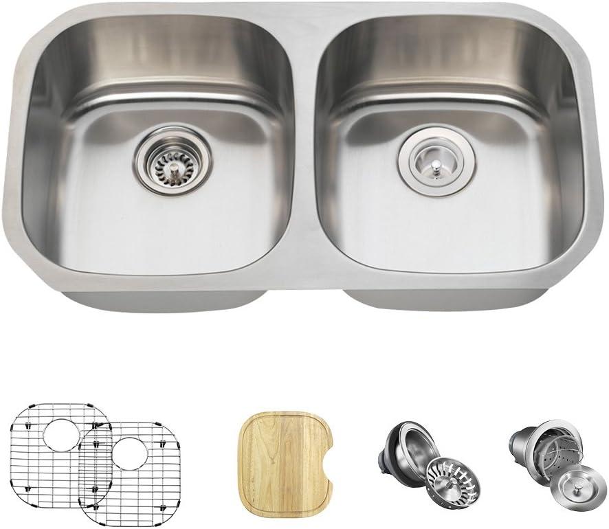 502 18 Gauge Stainless Steel Import Kitchen 6 Bundle Mesa Mall Ensemble Items: -