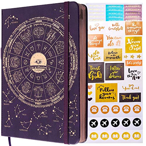 Law of Attraction Planner - Undated Deluxe Weekly, Monthly Planner, a 12 Month Journey to Increase Productivity & Happiness - Life Organizer, Gratitude Journal, and Stickers