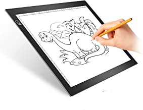 Light Box, UODOO LED Drawing Tablet Light-Up Tracing Pad A4 Ultra-Thin USB Portable LED Light Box Kids Toys for Boys and Girls Ages 6, 7, 8, 9,10 with 3 Level Brightness for Artists Drawing Sketching