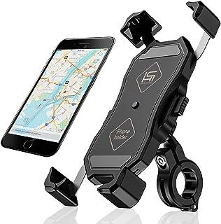 自転車 スマホホルダー バイク スマートフォン 振れ止め 脱落防止 GPSナビ 携帯 固定用 マウント スタンド 防水 に適用 iPhone X XS 8 7 6 6S Plus/HUWEI Mate P20 P10 lite/Xperia a...