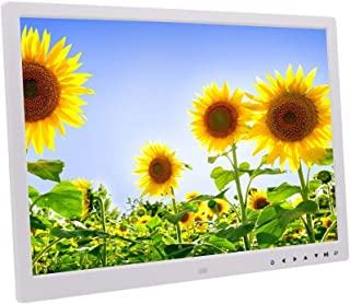 WUSHIYU Digital Frame 10 Inch Digital Picture Frame 1280800 Pixels High Resolution IPS Screen Auto On//Off Timer Remote Control Included Electronic Digital Photo Frame Color : White, Size : 10inch
