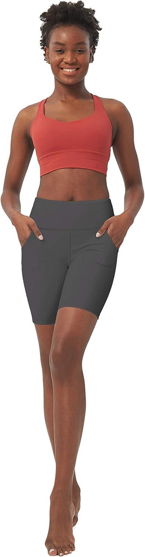 lulucheri Biker Shorts for Women with Pockets High Waisted Yoga Pants 8