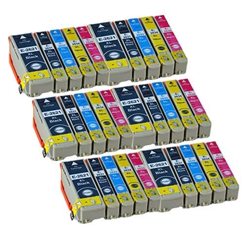30 ECS cartucce di inchiostro di ricambio per Epson 26XL Expression Premium stampante XP-510 XP-520 XP-600 XP-605 XP-610 XP-615 XP-620 XP-625 XP-700 XP-710 XP-720 XP-800 XP-820