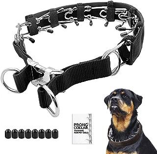 Mayerzon Prong Dog Training Collar with Protector, 4.0 mm x 23.6
