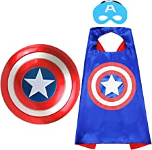 "Superhero toy Captain America 12"" Shield and Superhero Cape Set Superhero Dress up Costumes Suit for 3-10 Year Kids Boy Ro..."