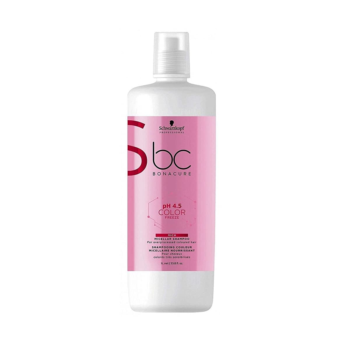 全能バンクウナギシュワルツコフ BC Bonacure pH 4.5 Color Freeze Rich Micellar Shampoo (For Overprocessed Coloured Hair) 1000ml/33.8oz並行輸入品