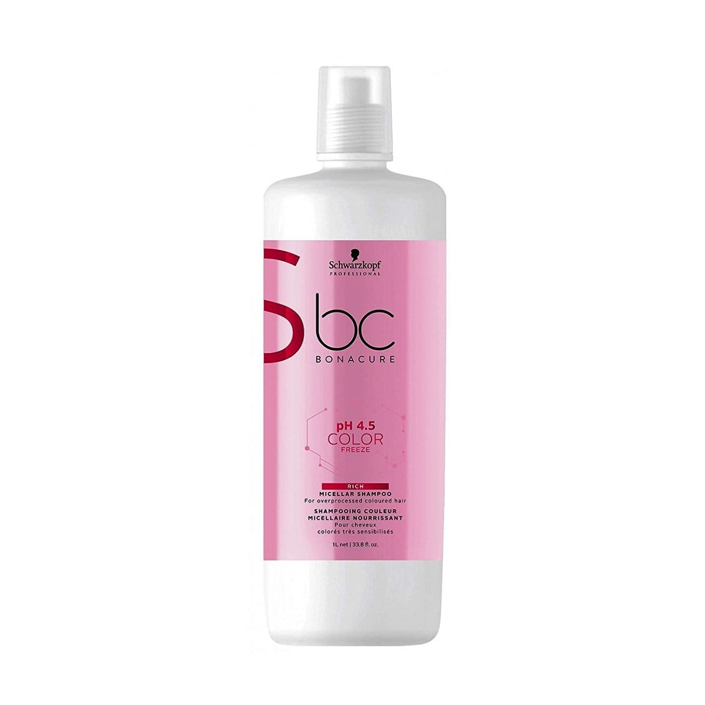 配置守る骨の折れるシュワルツコフ BC Bonacure pH 4.5 Color Freeze Rich Micellar Shampoo (For Overprocessed Coloured Hair) 1000ml/33.8oz並行輸入品