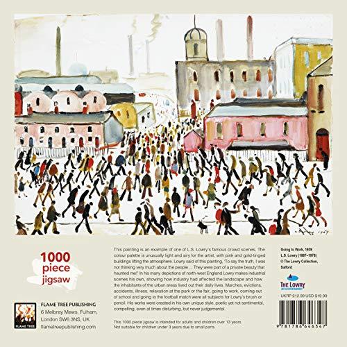 L.S. Lowry: Going to Work Jigsaw (1000-piece jigsaws): 1000-piece Jigsaw Puzzles