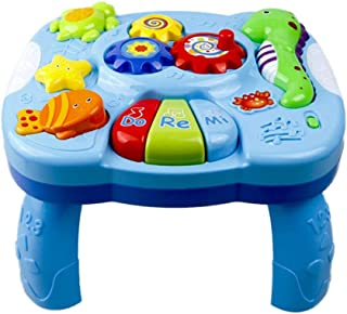Child Toys Musical Learning Table,Toddlers/Infant/Kids Aquatic Creatures Music Activity Center Game Table/Board for 1 2 3 Years Old Boys & Girls