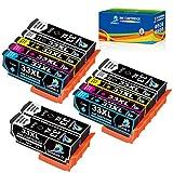 DOUBLE D 33XL para Epson 33 33XL 33 XL Cartuchos de Tinta Compatible con Epson Expression Premium XP-530 XP-540 XP-630 XP-635 XP-645 XP-640 XP-830 XP-900 XP-7100 (12 Pack)