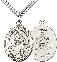 DiamondJewelryNY Sterling Silver Cross//Army Pendant