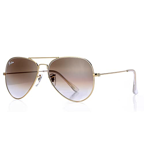 2bde02f0f4 Pro Acme Aviator Crystal Lens Large Metal Sunglasses