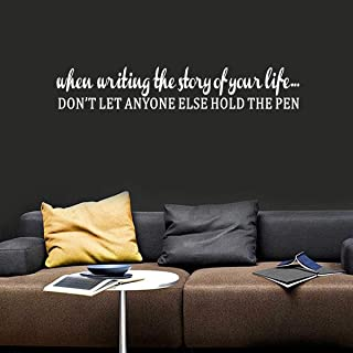 TOARTi Inspirational Quote Wall Sticker,(White) UV Highly Transparent, Motivational Saying Decal for Bedroom Living Room O...