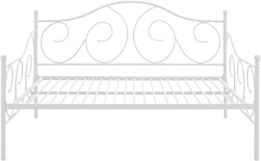DHP Victoria Daybed, Full Size Metal Frame, Multi-functional Furniture, White