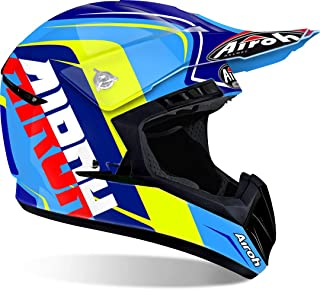 <h2>Airoh Switch Sign Motocross Helm XS 53/54 Blau/Gelb</h2>
