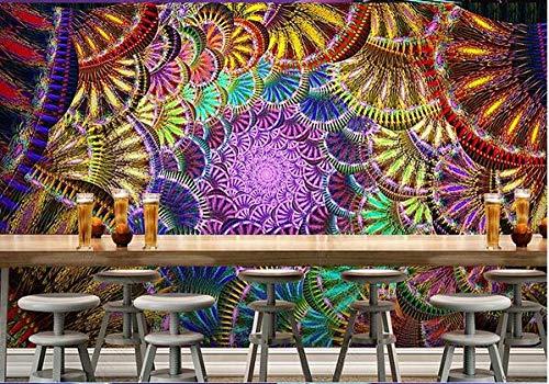 Papel Pintado 3D Decoración Murales Pared De Fondo De Herramientas De Ktv De Barra De Flor De Diamante Fresco-200Cmx140Cm