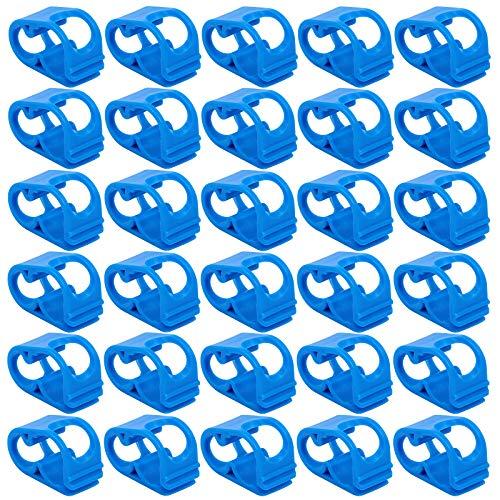 Blu Morsetti per Tubi in Plastica Morsetto Sifone Tubo Blu Fascetta per Tubo Regolabile Plastica Valvola del Tubo Controllo del Flusso Morsetto per Tubo a Sifone Clip per Tubo Controllo Del Flusso