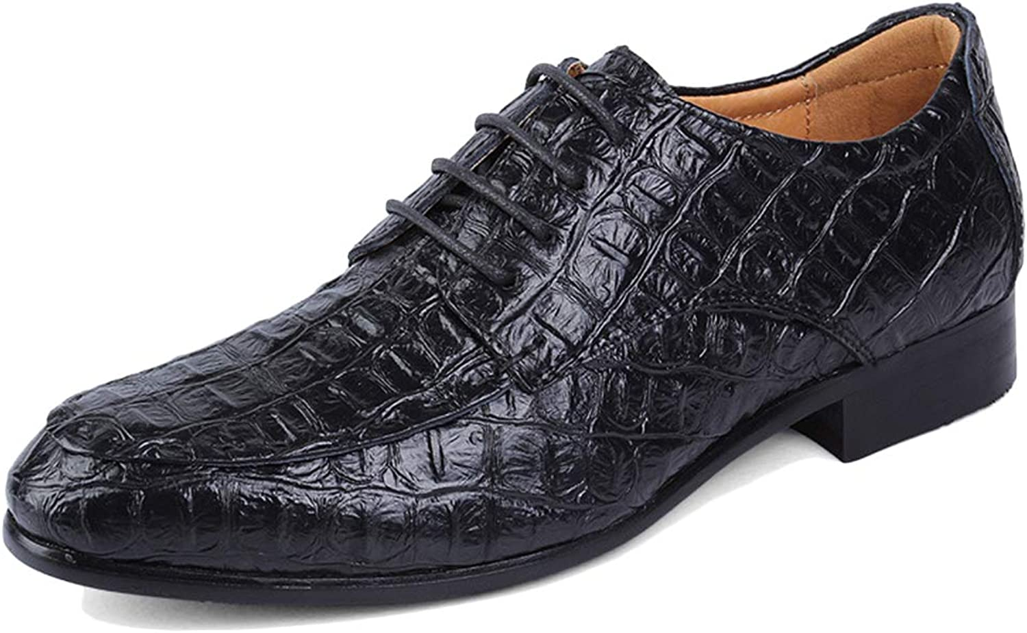 K-Flame Crocodile Pattern Formal Dress shoes for Mens Business Large Size Leather shoes Wedding Work Utility Footwear