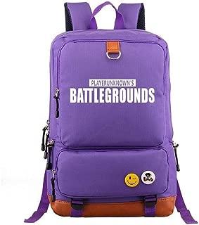 Asdfnfa Backpack, Large Capacity Travel Game Element Knapsack Shoulder Bag for Men and Women Casual Rucksack Computer Bag Student Schoolbags (Color : Purple)