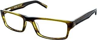 Tumi Men's T305 Eyeglasses, Olive Tort