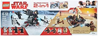 LEGO Star Wars 66597 Super Battle Pack 2 in 1 Includes 75198 Tatooine and 75197 First Order Specialist Packs, Multi-Colored