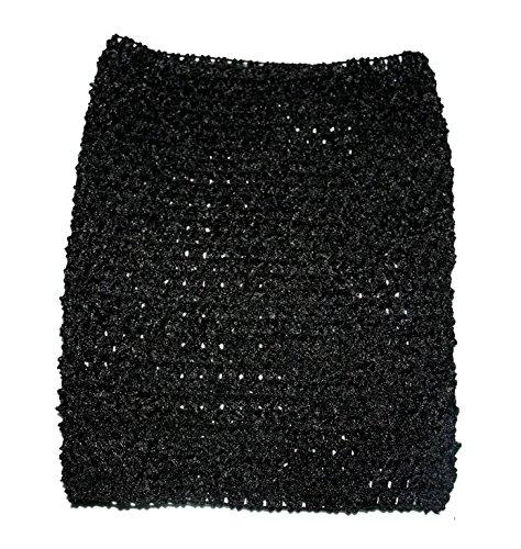 Rush Dance Crochet Tutu Fairy Princess Pettiskirt Halter Top (One Size, Black)